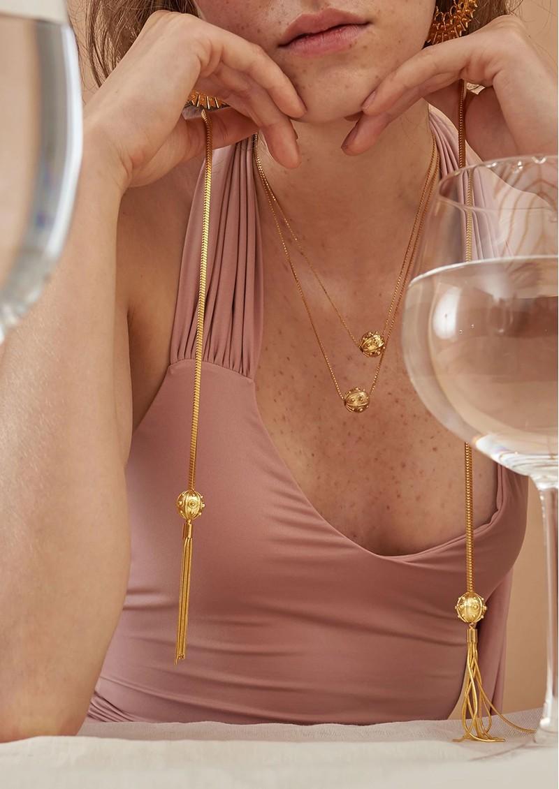 PAJAROLIMON Sumi Lariat Necklace - Gold  main image