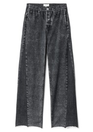 RAG & BONE Miramar Cotton Wide Leg Joggers - Black Magic