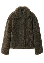 RAG & BONE Hesper Faux Fur Coat - Army Green