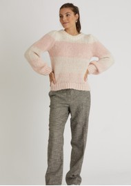 BERENICE Anis Striped Jumper - Heather Bubble