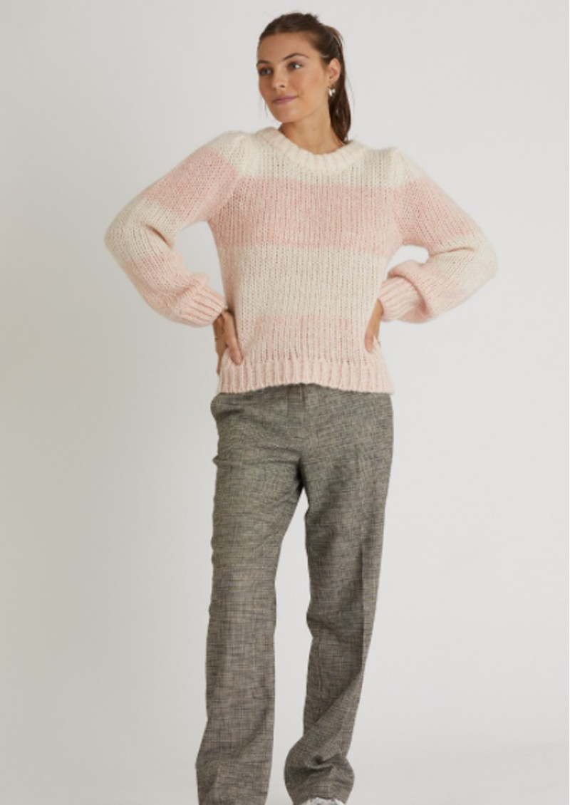 BERENICE Anis Striped Jumper - Heather Bubble main image