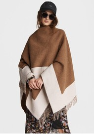 RAG & BONE Highlands Mercer Wool Mix Poncho - Bronze