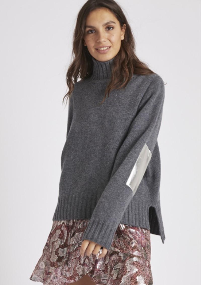 BERENICE Albin Merino Wool Pullover - Heather Grey main image