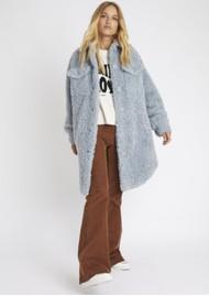 BERENICE Macha Faux Fur Coat - Sky