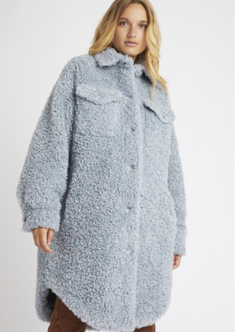 BERENICE Macha Faux Fur Coat - Sky main image