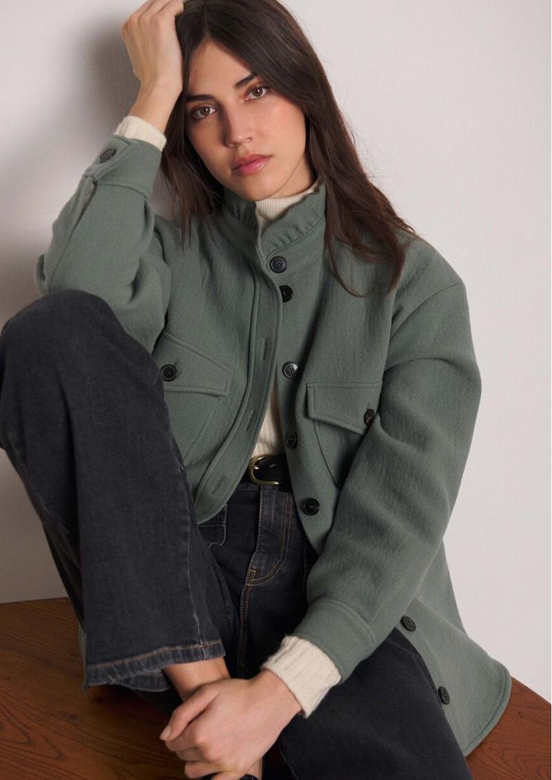 BA&SH Aya Shirt Jacket - Vertdeau main image