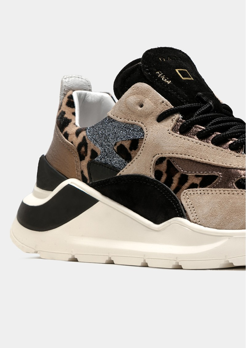 D.A.T.E Fuga Animalier Running Trainer - Leopard main image