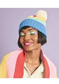 MISS POM POM Rainbow Beanie Hat X Tatty Devine