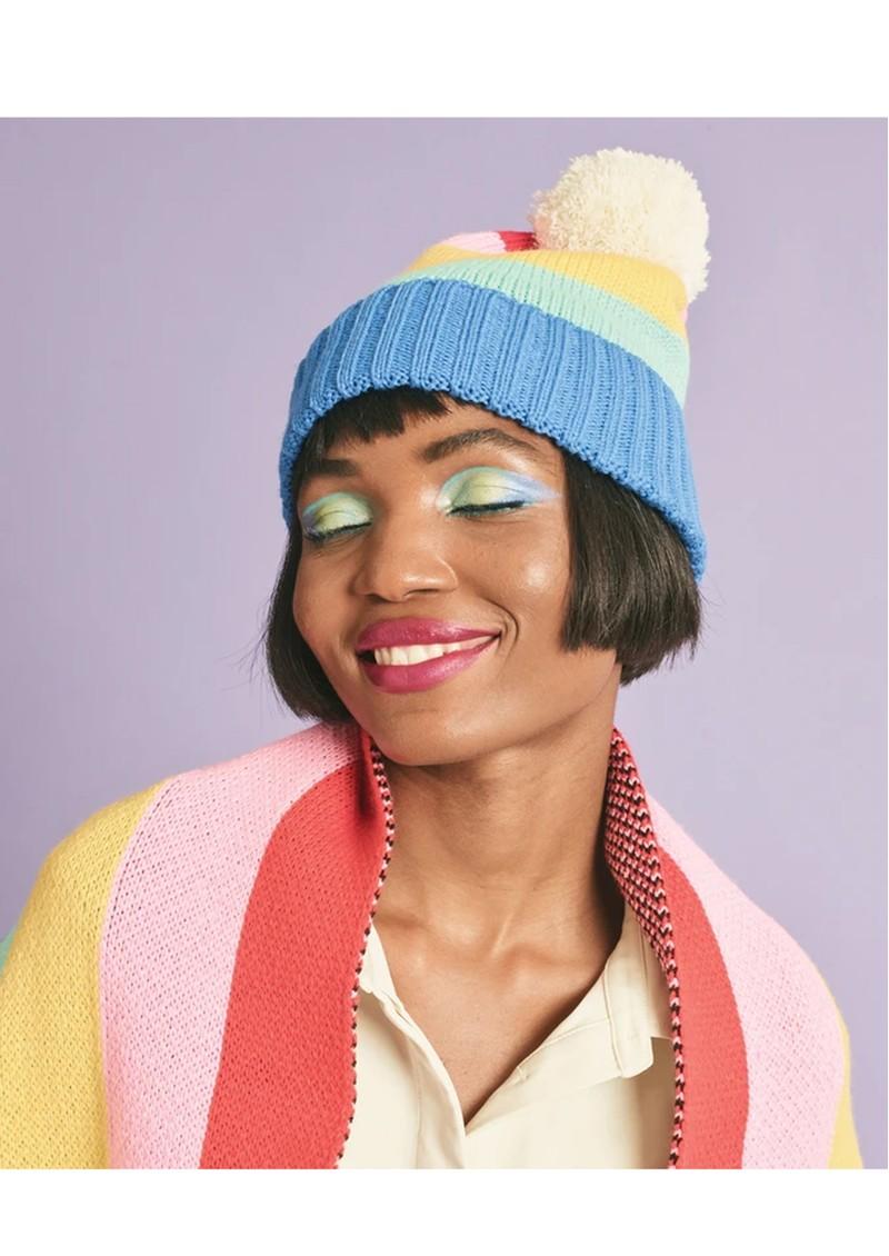 MISS POM POM Rainbow Beanie Hat X Tatty Devine main image
