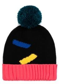 MISS POM POM Dash Beanie Hat - Black