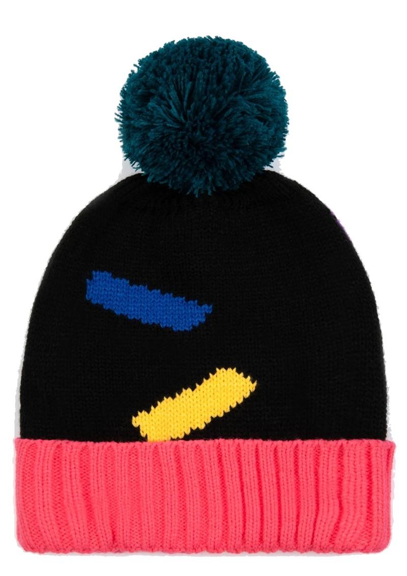 MISS POM POM Dash Beanie Hat - Black main image