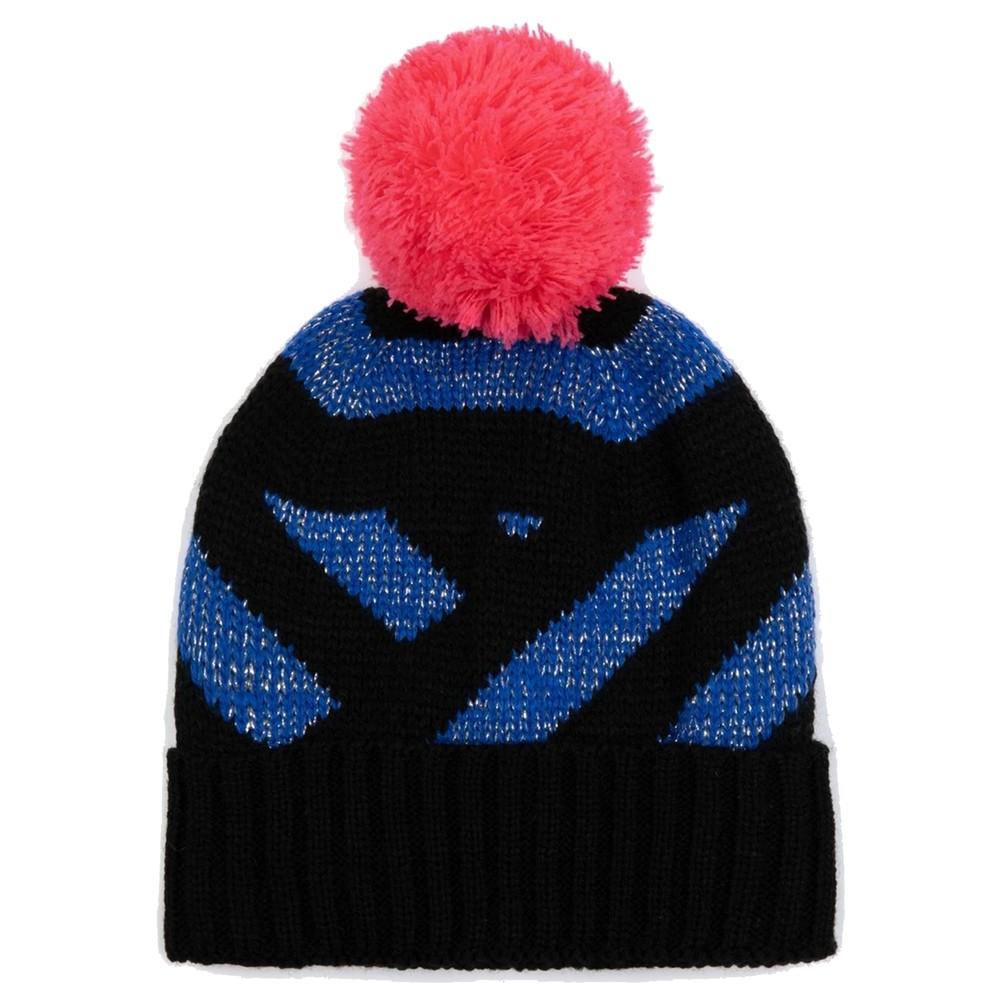 Stripe Beanie Hat - Blue Glitter