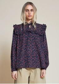 STELLA NOVA Saseline Cotton Blouse - Navy