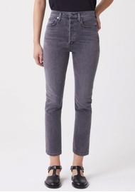 AGOLDE Riley High Rise Crop Straight Leg Jean - Sector