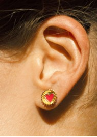 PAJAROLIMON Coca Cola Stud Earrings - Red