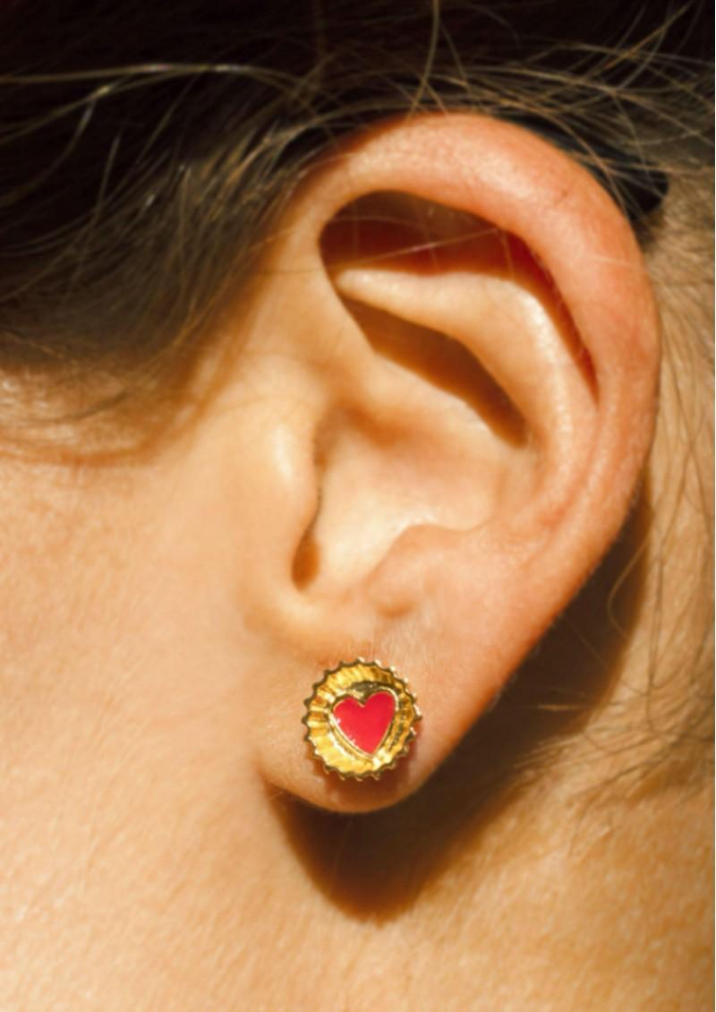 PAJAROLIMON Coca Cola Stud Earrings - Red main image