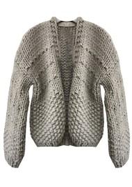 MAISON ANJE Lemontana Knitted Cardigan - Galet