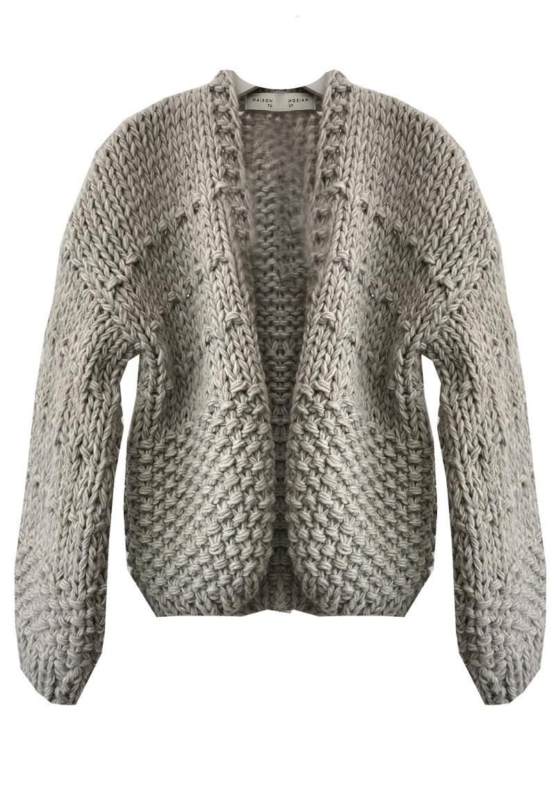 MAISON ANJE Lemontana Knitted Cardigan - Galet main image