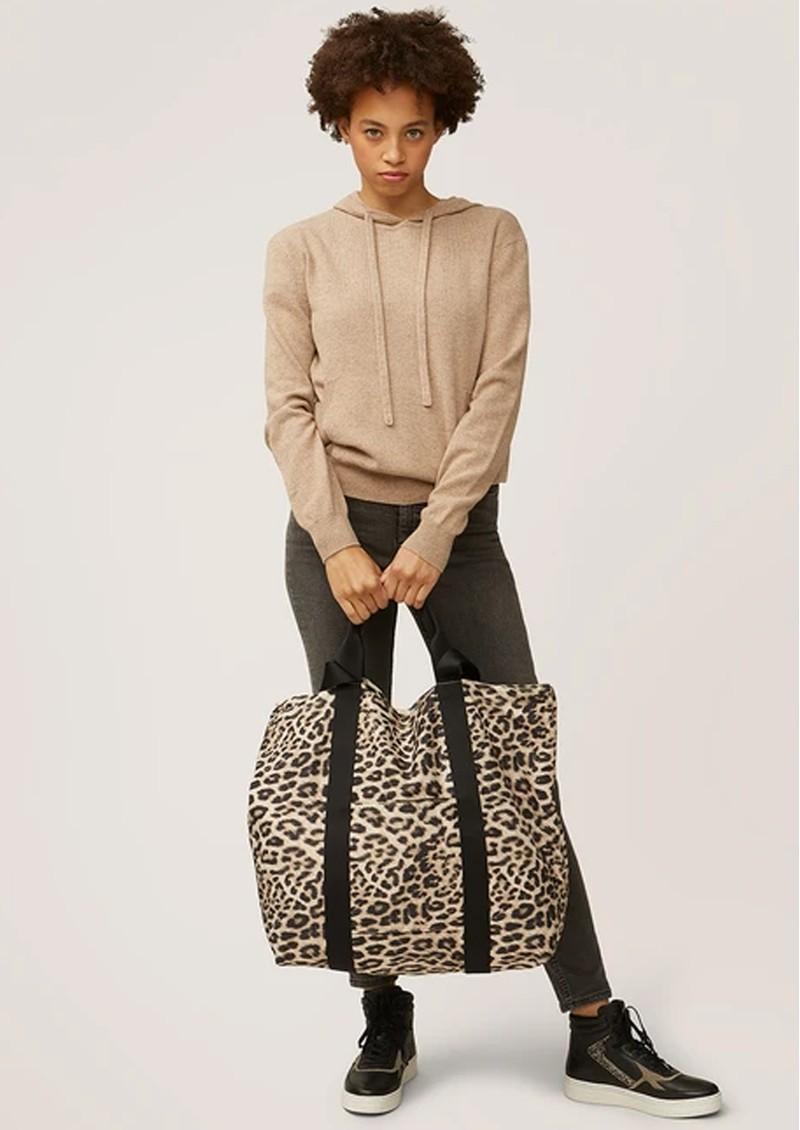 NOOKI Venus Printed Shopper Bag - Natural Leopard main image