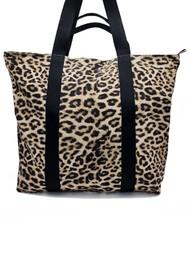 NOOKI Venus Printed Shopper Bag - Natural Leopard