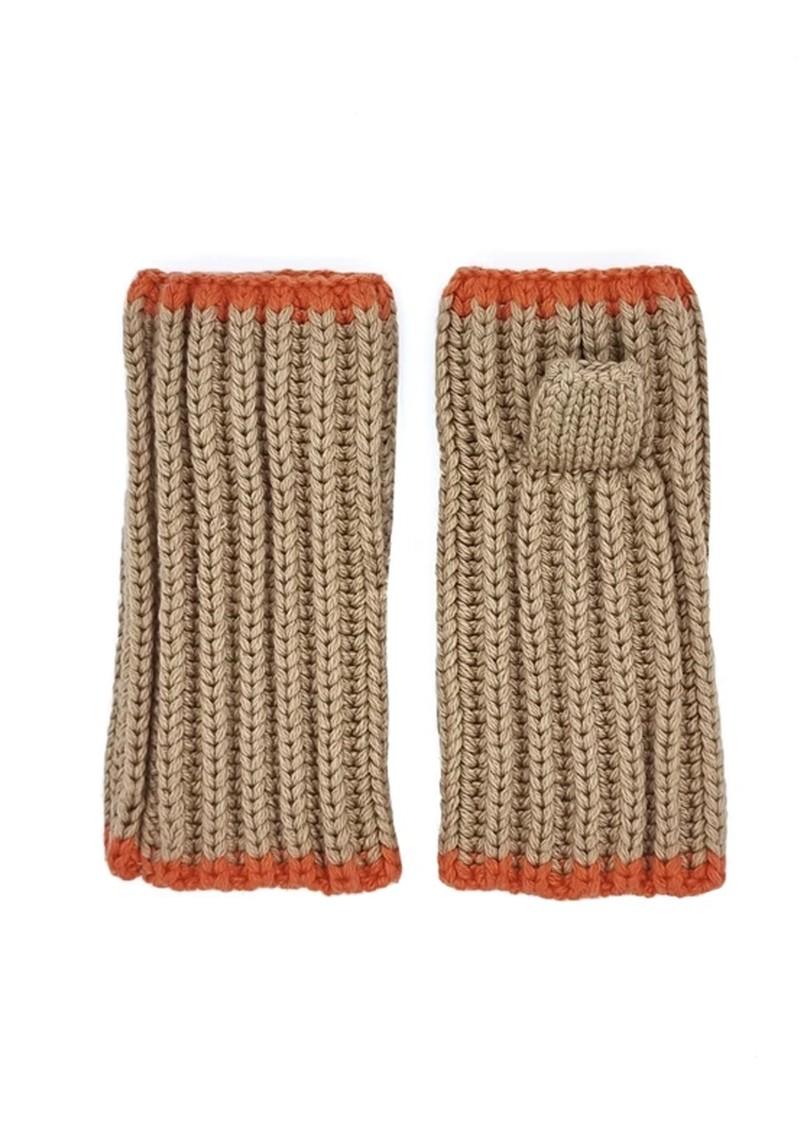 NOOKI Marta Recycled Fingerless Gloves - Grey  main image