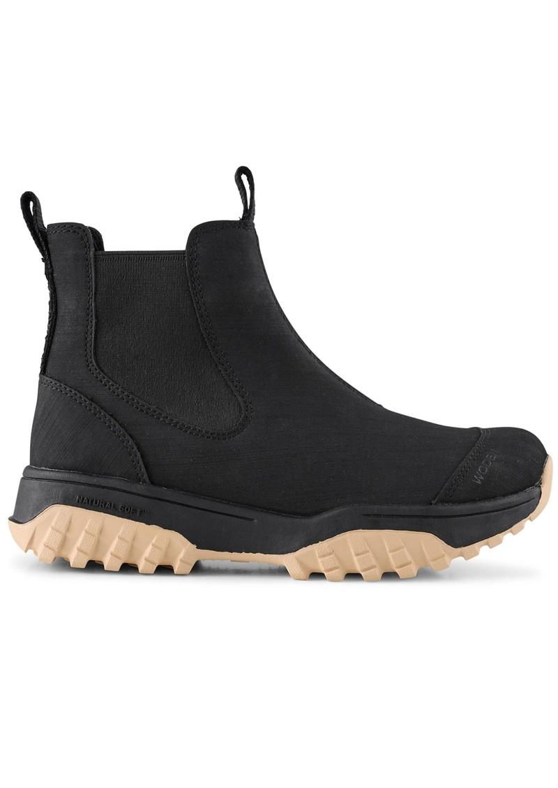 WODEN Magda Rubber Waterproof Track Boot - Black & Beige main image