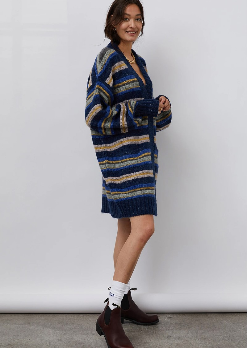 LOLLYS LAUNDRY Carrie Oversized Cardigan - Dark Blue  main image
