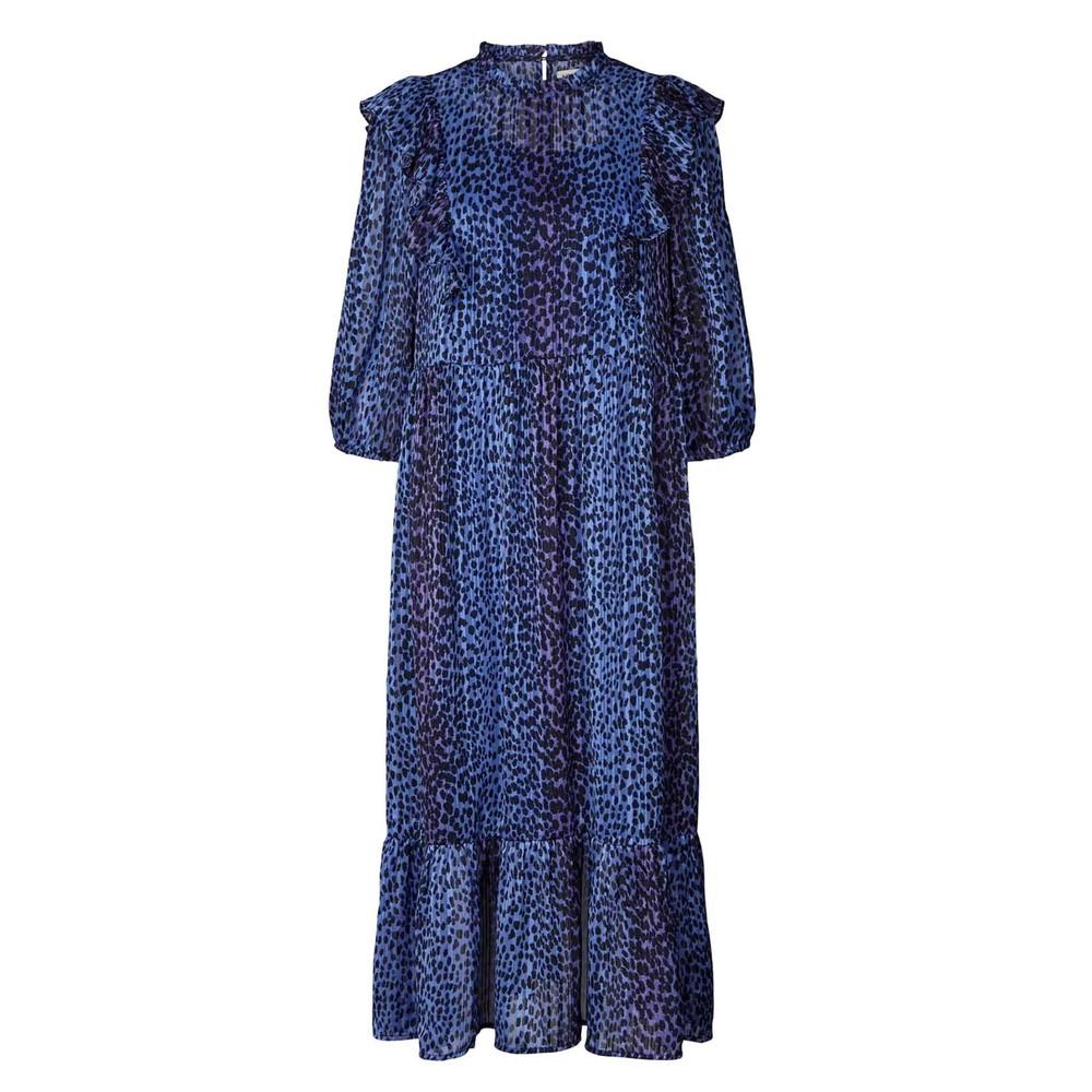 Cana Printed Dress - Neon Blue