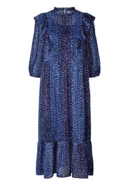 LOLLYS LAUNDRY Cana Printed Dress - Neon Blue