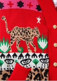 HAYLEY MENZIES Leopardess Cotton Merino Bomber Jacket - Pink
