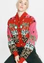 Leopardess Cotton Merino Bomber Jacket - Pink additional image