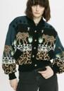 Leopardess Cotton Merino Bomber Jacket - Navy additional image