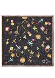 HAYLEY MENZIES Forever Portobello Silk Scarf - Black