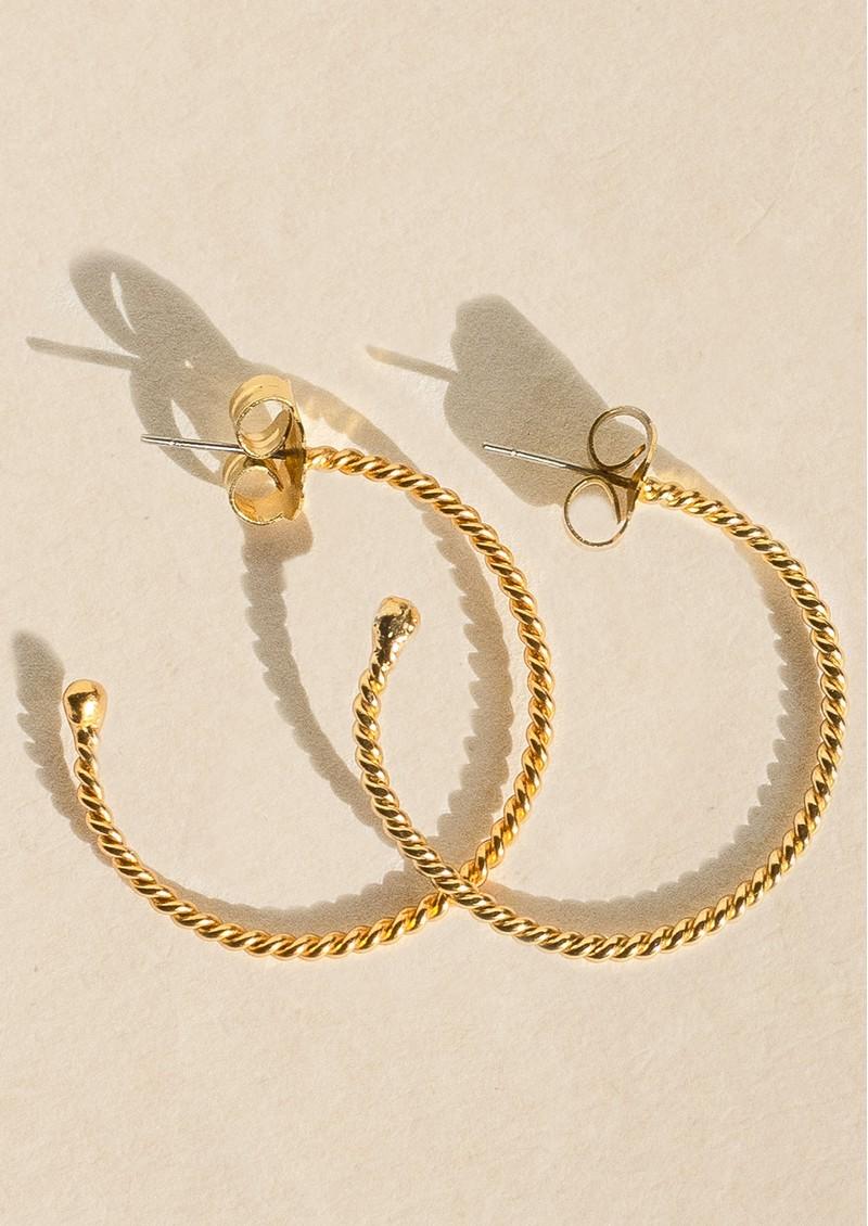 PAJAROLIMON Medium Twisted Hoops - Gold main image