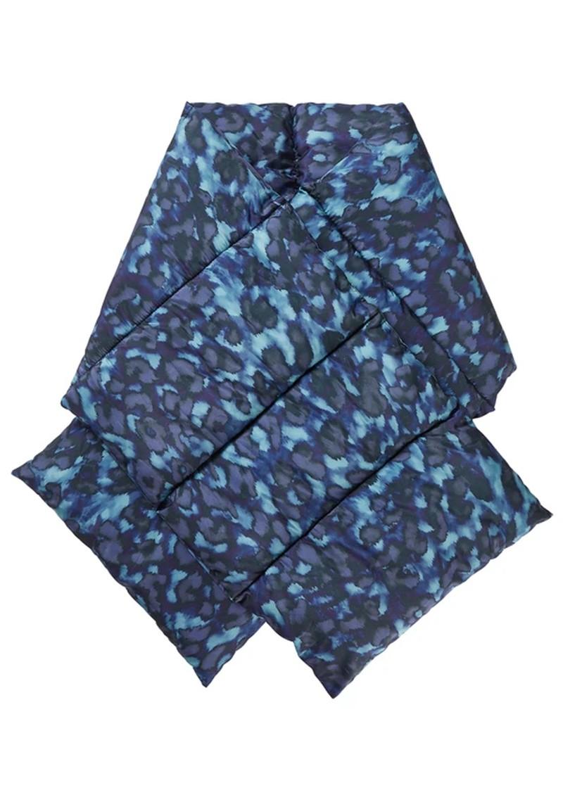 NOOKI Reno Padded Scarf - Blue Leopard  main image