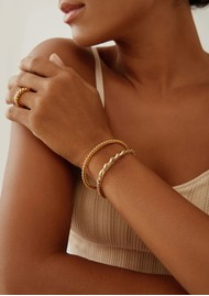 ANNA BECK Pearl & Twisted - Twisted Cuff - Gold