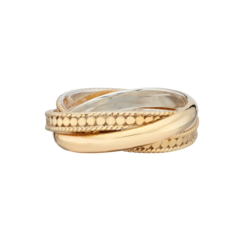 Pearl & Twisted - Twisted Smooth Ring - Gold