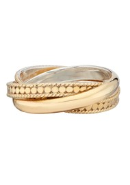 ANNA BECK Twisted Smooth Dotted Ring - Gold