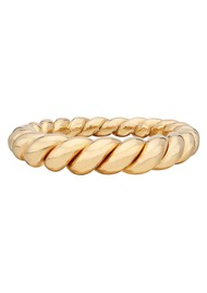 ANNA BECK Pearl & Twisted Tapered Twisted Ring - Gold