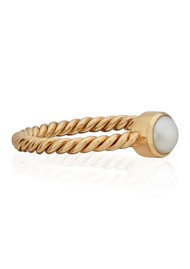 ANNA BECK Pearl & Twisted Ring - Gold