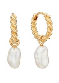 ANNA BECK Pearl & Twisted Keshi Pearl Charm Twisted Mini Earrings - Gold