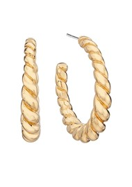 ANNA BECK Pearl & Twisted Medium Twisted Earrings - Gold