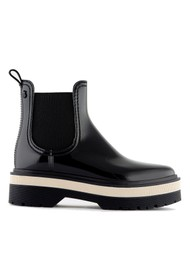 LEMON JELLY Netty 01 Vegan Platform Jelly Boots - Black
