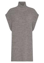 LEVETE ROOM Gymla 9 Knitted Tabard - Grey
