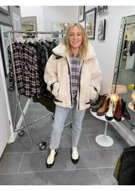 ESSENTIEL ANTWERP Acceptance Faux Fur Coat - Off White