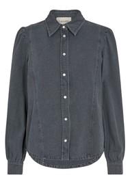 LEVETE ROOM Pixi 1 Denim Shirt - Grey