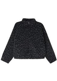 JUMPER 1234 Leopard Zip Up Fleece - Grey