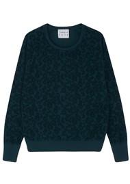 JUMPER 1234 Leopard Burnout Sweatshirt - Bottle