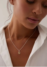 ANNA BECK Classic Smooth Rim Teardrop Pendant Necklace - Gold & Silver