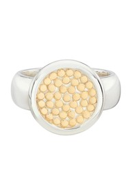 ANNA BECK Classic Smooth Rim Disc Ring - Gold & Silver